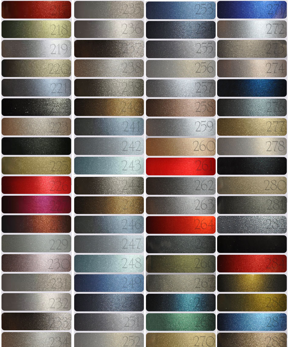 Названия цветов краски на авто фото